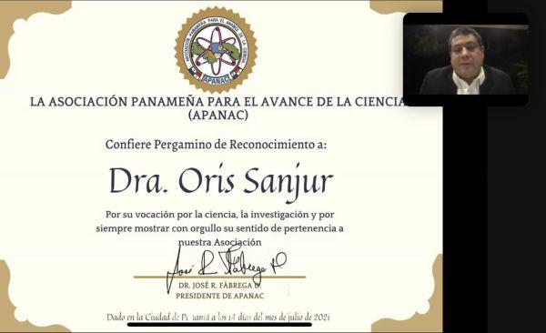 Homenaje a la Dra. Oris Sanjur
